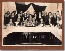 Una de las primeras fotografías de una reunión de camaradería del Rotary Club Collipulli, a pocos meses de su fundación. (Foto Museo Radio Viaducto)