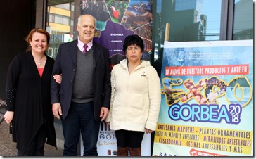 Expo foto (Encargada de turismo- alcalde Gorbea Guido Siegmund - emprendedora lanas